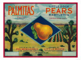 Palmitas Pear Crate Label - Antelope Valley, CA Posters
