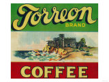 Torreon Coffee Label Posters by  Lantern Press
