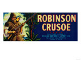 Robinson Crusoe Melon Label - Niland, CA Posters by  Lantern Press
