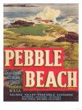 Pebble Beach Lettuce Label - Salinas, CA Poster von  Lantern Press