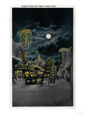 Ocean Front at Night, Ocean Park - Santa Monica, CA Posters by  Lantern Press