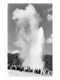 Old Faithful Geyser Crowd Yellowstone National Park Photograph - Yellowstone, WY Posters