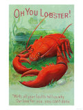Oh You Lobster Scene Posters
