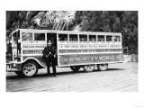 Tour Bus in Skagway, Alaska Photograph - Skagway, AK Posters by  Lantern Press