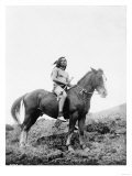 Nez Perce Indian on Horseback Edward Curtis Photograph Pôsters por  Lantern Press