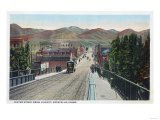 Viaduct View of Center Street - Pocatello, ID Poster by  Lantern Press