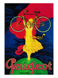 Peugeot Bicycle Vintage Poster - Europe Poster
