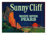 Sunny Cliff Pear Crate Label - Medford, OR Poster