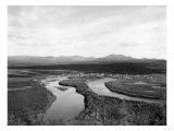 Town View of Iditarod, Alaska Photograph - Iditarod, AK Print by  Lantern Press