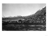 Town View of Kodiak, Alaska Photograph - Kodiak, AK Posters by  Lantern Press