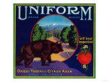 Uniform Orange Label - Orosi, CA Posters