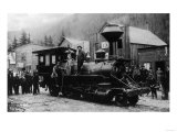 View of First Locomotive in Alaska - Skagway, AK Posters by  Lantern Press