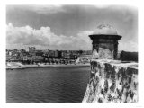 View of Havana from Cabana Fortress Photograph - Havana, Cuba Posters