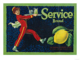 Service Lemon Label - La Habra, CA Posters