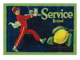 Service Lemon Label - La Habra, CA Posters