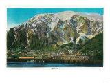 Town View of Juneau, Alaska - Juneau, AK Posters