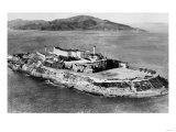 San Francisco, CA Aerial View of Alcatraz Island Photograph - San Francisco, CA Prints