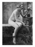 Nude Woman French Art Nouveau Photograph No.5 - France Posters by  Lantern Press