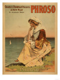 Phroso Woman at Beach Theatrical Poster Print by  Lantern Press