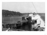 Orcas Island, Washington View of Ferry at Dock Photograph - Orcas, WA Print by  Lantern Press