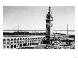 San Francisco, CA Ferry Building Waterfront Photograph - San Francisco, CA Print by  Lantern Press