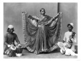 Nautch Girl Dancing with Musicians Photograph - Calcutta, India Print