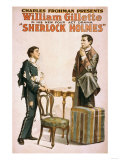 Sherlock Holmes Theatrical Play Poster No.3 Poster by  Lantern Press