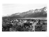 Town View of Seward, Alaska Photograph - Seward, AK Poster by  Lantern Press