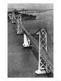 San Francisco, CA Aerial View of Oakland Bay Bridge Photograph - San Francisco, CA Prints
