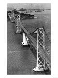 San Francisco, CA Aerial View of Oakland Bay Bridge Photograph - San Francisco, CA Poster