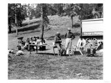 Picnicking in Yellowstone National Park Photograph - Yellowstone, WY Poster by  Lantern Press