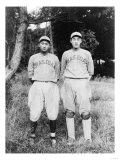 Nagano & Kuji Jiro, Waseda University, Baseball Photo - Tokyo, Japan Poster by  Lantern Press