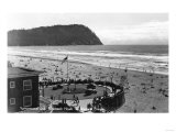 Seaside, Oregon Beach Scene from Air Photograph - Seaside, OR Posters by  Lantern Press