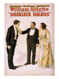 Sherlock Holmes Theatrical Play Poster No.2 Posters by  Lantern Press