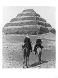 Soldiers on Camels and Step Pyramid Photograph - Egypt Poster