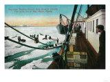 Nome, Alaska Steamer Corwin Unloading Freight 5 Miles Out - Nome, AK Posters by  Lantern Press