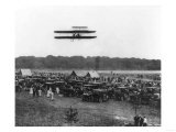 Orville Wright and Lahm in Record Flight Photograph - Fort Meyer, VA Posters by  Lantern Press