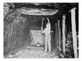 Miner Working in a Coal Mine Photograph Poster by  Lantern Press