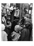 Robert Kennedy with Children at Playground Photograph - New York, NY Poster by  Lantern Press