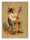 Minstrel Plantation Banjo Player Theatre Poster Posters by  Lantern Press