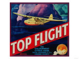 Top Flight Orange Label - Tustin, CA Posters