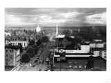 Salem, OR Town View from Air Photograph - Salem, OR Print by  Lantern Press