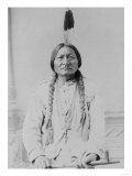 Sitting Bull Native American with Peace Pipe Photograph - Bismarck, ND Print by  Lantern Press