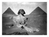 Sphinx and Two Pyramids Photograph - Egypt Print by  Lantern Press