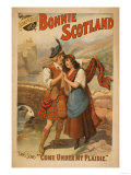 Sidney R. Ellis' Bonnie Scotland Scottish Play Poster No.2 Art by  Lantern Press