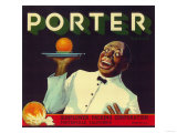 Porter Orange Label - Porterville, CA Posters by  Lantern Press