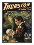 Lantern Press - Thurston the Great Magician Holding Skull Magic Poster - Poster