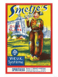 Smetje's Wine Label - Europe Posters