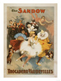 Lantern Press - Sandow Trocadero Vaudevilles Carnival Theme Poster - Tablo