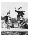 Two Scottish Children in Kilts Dancing Photograph - Scotland Póster por  Lantern Press